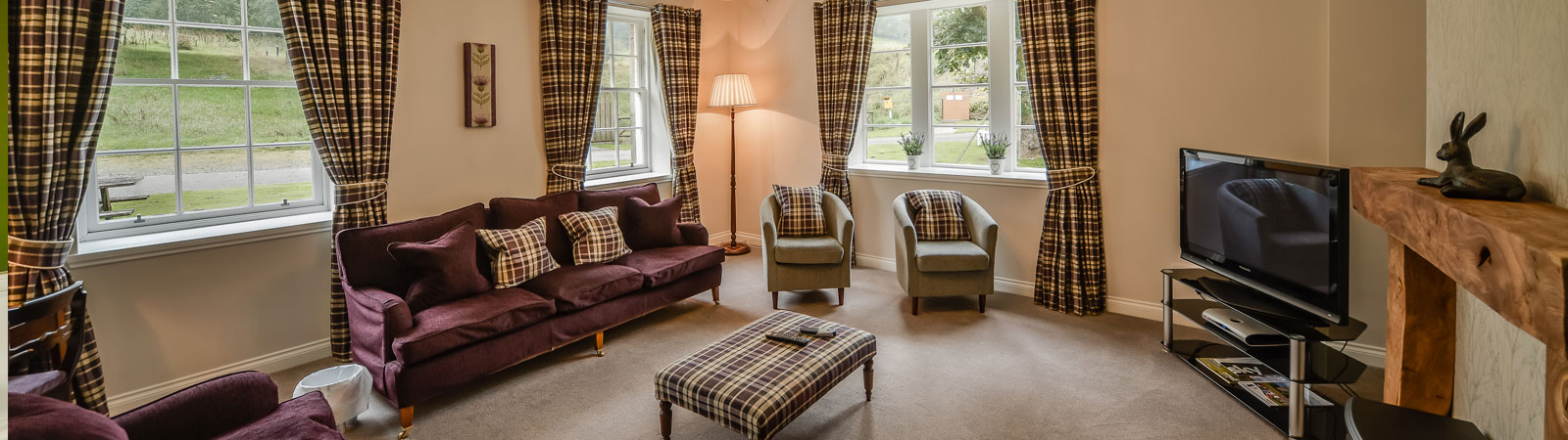Self-catering cottages Ayrshire on secluded grounds Blairquhan Castle